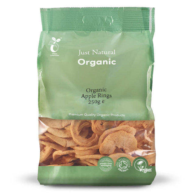 Just Natural Organic Apple Rings 125g