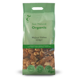 Just Natural Organic Walnut Halves 250g