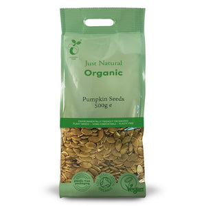 Just Natural Organic Pumpkin Seeds 500g