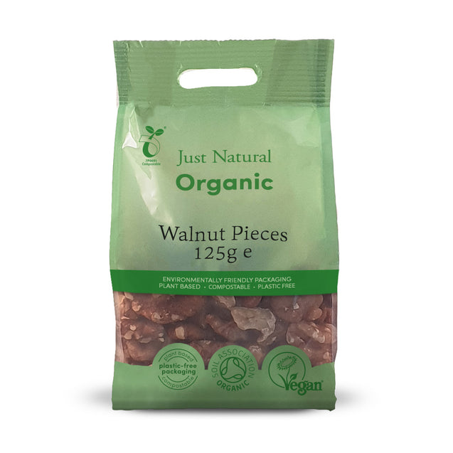 Just Natural Organic Walnut Pieces 125g