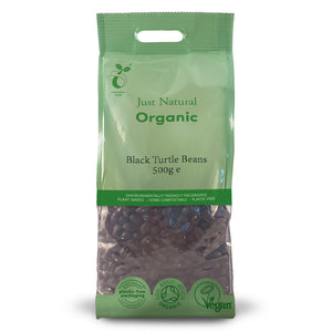 Just Natural Organic Black Turtle Beans 500g
