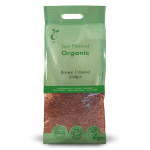 Just Natural Organic Brown Linseed 500g