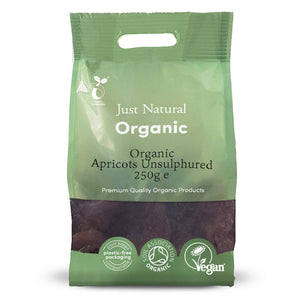 Just Natural Organic Unsulphured Apricots 250g