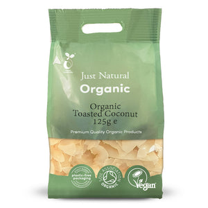 Just Natural Organic Toasted Coconut  125g