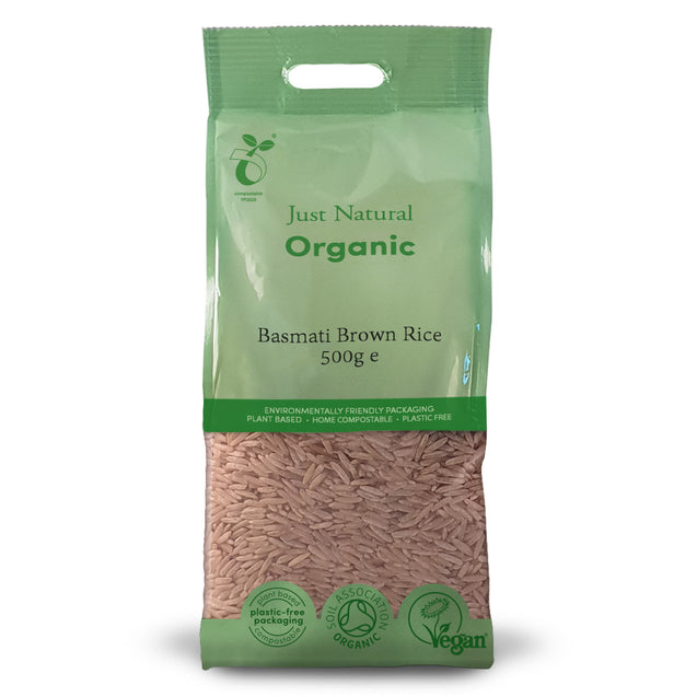 Just Natural Organic Basmati Brown Rice 500g