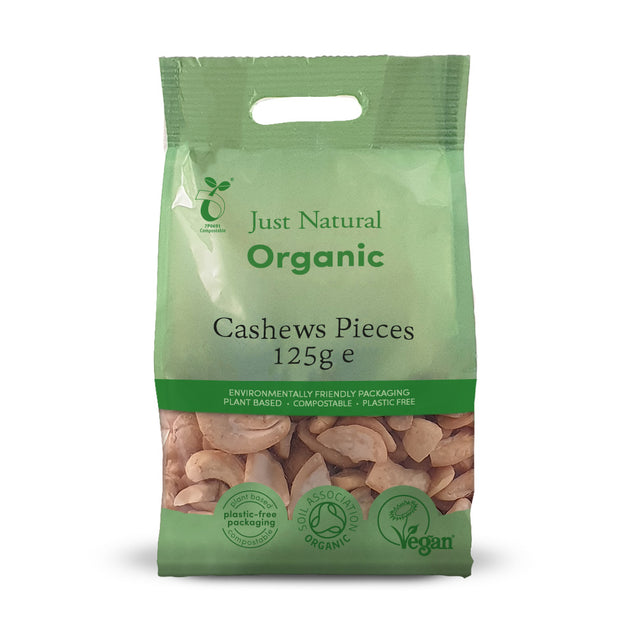Just Natural Organic Cashews Pieces 125g