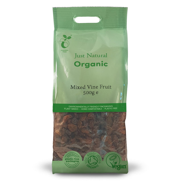Just Natural Organic Mixed Vine Fruit 500g