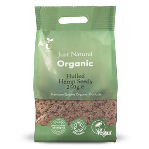 Just Natural Organic Hemp Seeds Hulled 250g