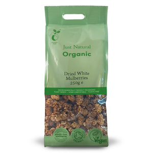 Just Natural Organic Dried White Mulberries 250g