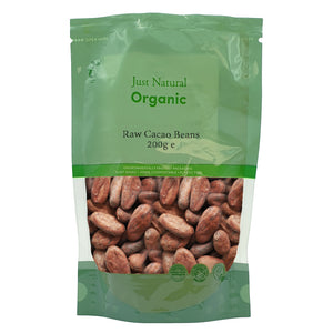Just Natural Organic Raw Cacao Beans 200g