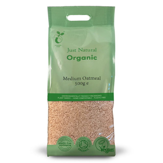 Just Natural Organic Oatmeal Medium 500g