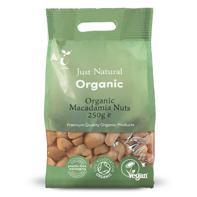 Just Natural Organic Macadamia Nuts 250g