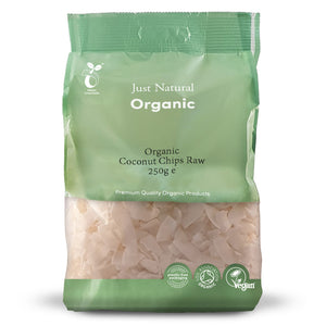 Just Natural Organic Coconut Chips Raw 250g
