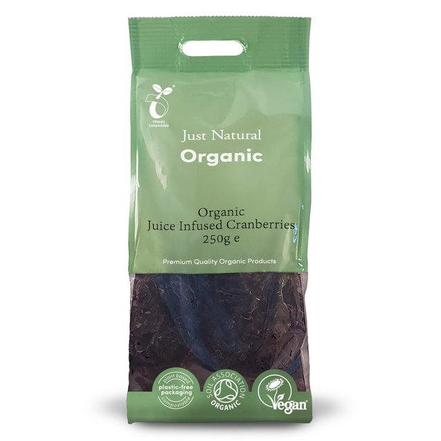 Just Natural Organic Juice Infused Cranberries 250g