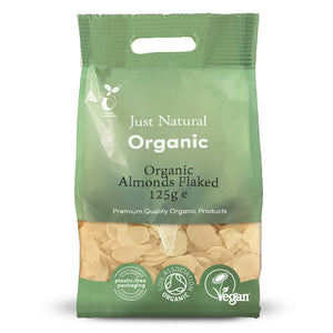 Just Natural Organic Almonds Flaked 125g