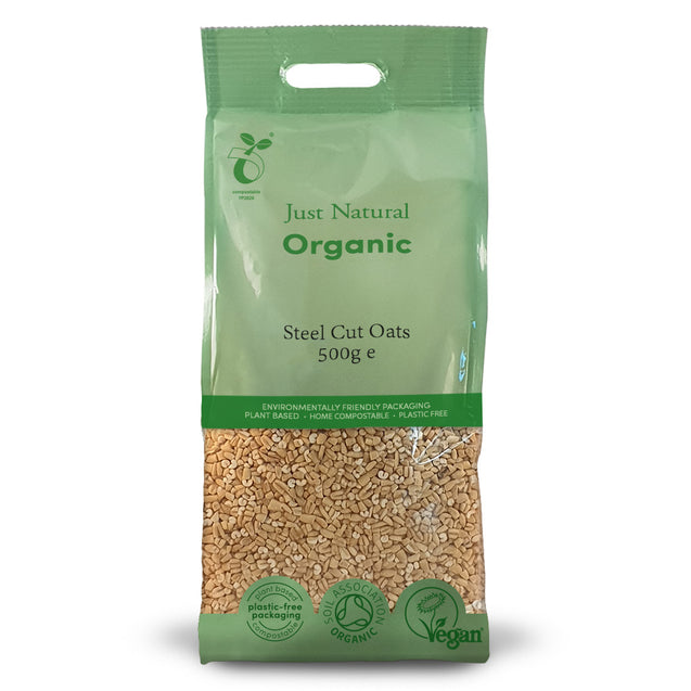 Just Natural Organic Steel Cut Oats 500g