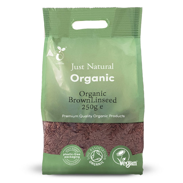 Just Natural Organic Brown Linseed 250g
