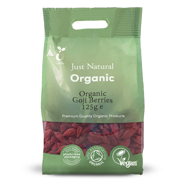 Just Natural Organic Goji Berries 125g