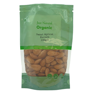 Just Natural Sweet Organic Apricot Kernels 200g