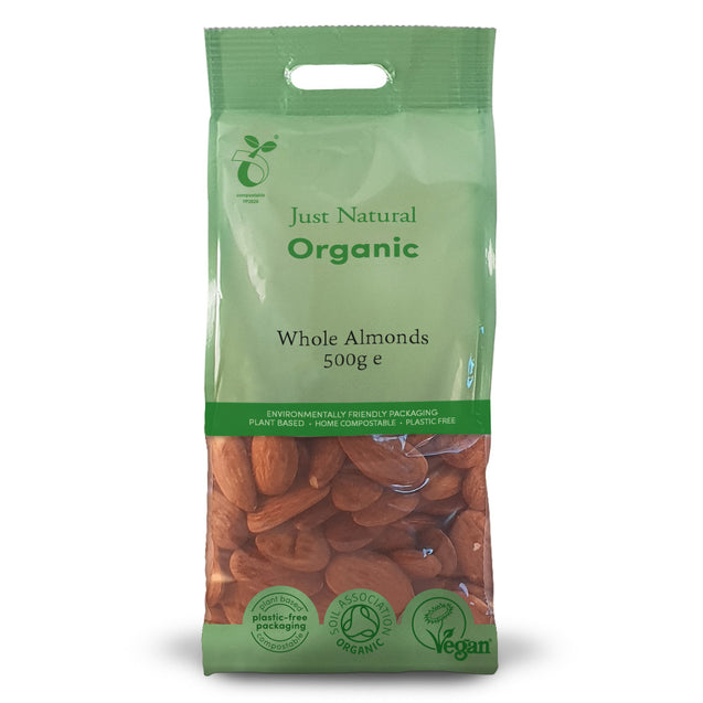 Just Natural Organic Almonds Whole 500g