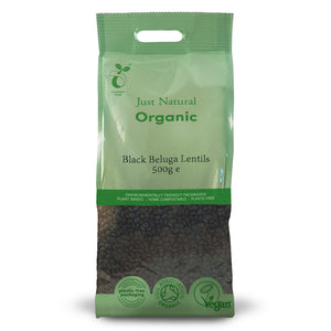 Just Natural Organic Black Beluga Lentils 500g