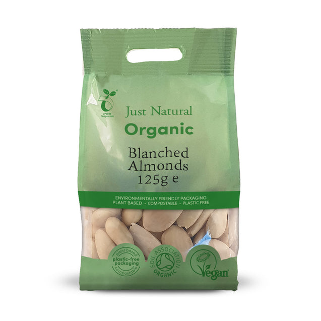 Just Natural Organic Almonds Blanched 125g