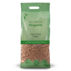 Just Natural Organic Oats Groats 500g