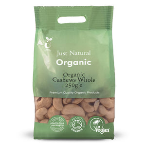 Just Natural Organic Cashews Whole 250g