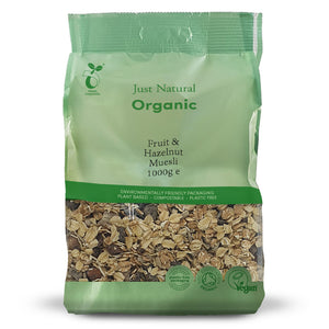 Just Natural Organic Fruit & Hazelnut Muesli 1000g