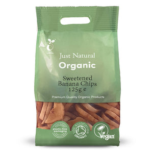 Just Natural Organic Banana Chips 125g