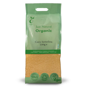 Just Natural Organic Corn Semolina 500g