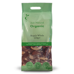 Just Natural Organic Brazils Whole 500g