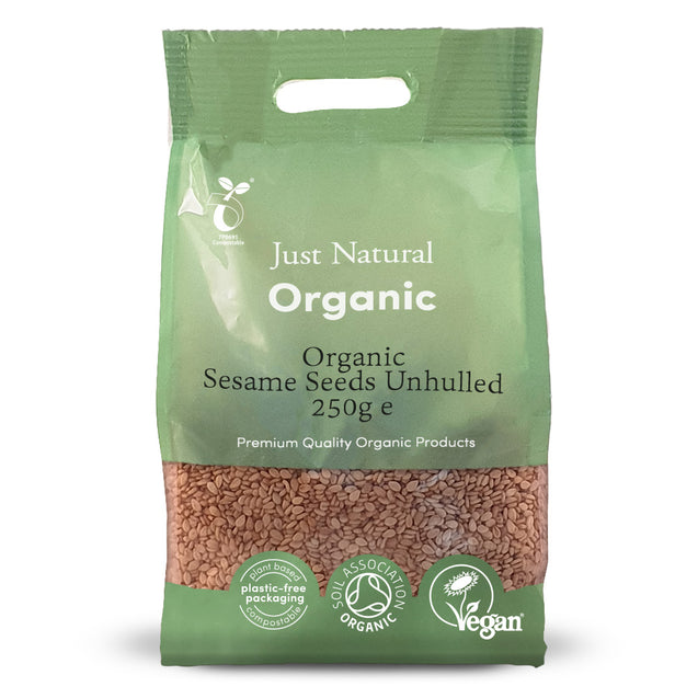 Just Natural Organic Sesame Seeds Unhulled 250g