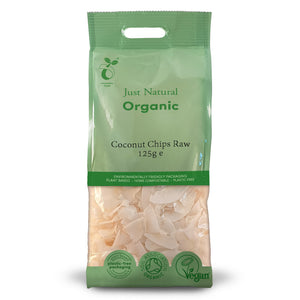 Just Natural Organic Coconut Chips Raw 125g