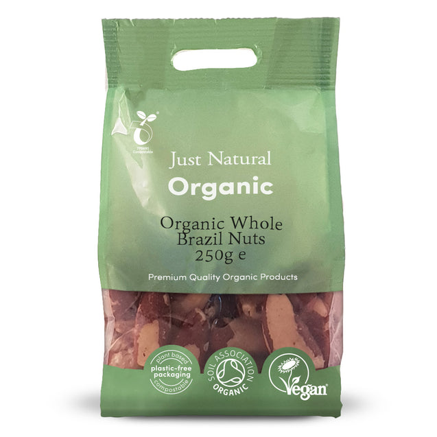 Just Natural Organic Brazils Whole 250g