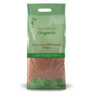 Just Natural Organic Cous Cous Wholemeal 500g