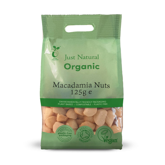 Just Natural Organic Macadamia Nuts 125g