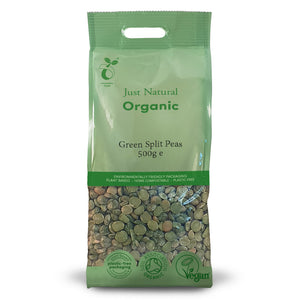 Just Natural Organic Green Split Peas 500g
