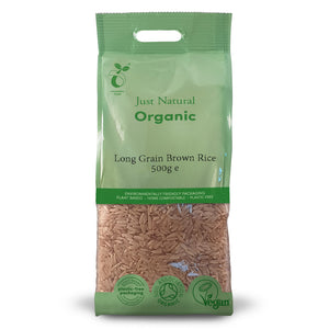 Just Natural Organic Long Grain Brown Rice 500g