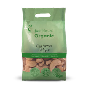 Just Natural Organic Cashews Whole 125g