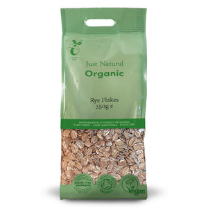 Just Natural Organic Rye Flakes 350g