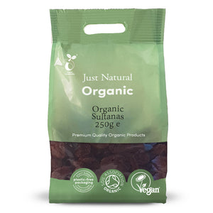 Just Natural Organic Sultanas 250g