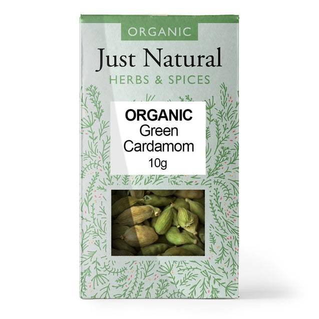 Just Natural Organic Cardamom Whole 10g