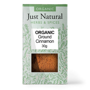 Just Natural Organic Ground Cinnamon 30g
