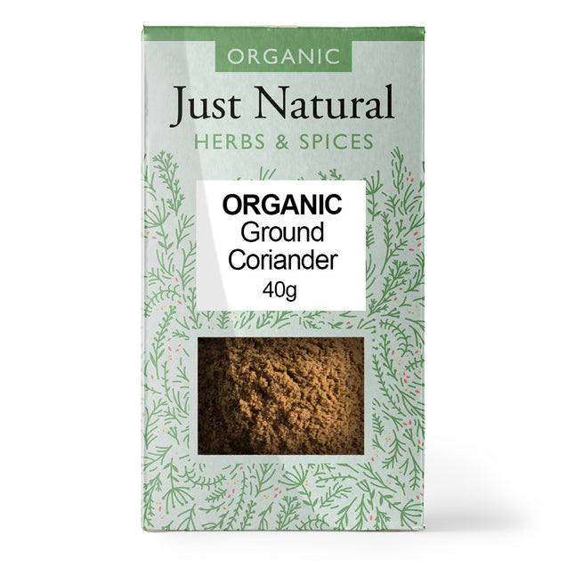 Just Natural Organic Ground Coriander 40g