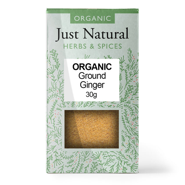 Just Natural Organic Ground Ginger 30g