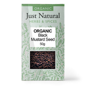 Just Natural Organic Mustard Seed Black 50g