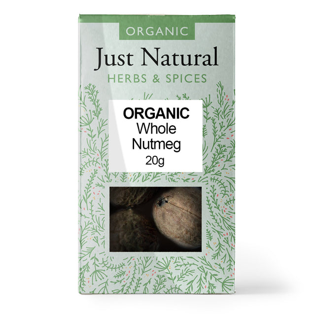 Just Natural Organic Nutmeg Whole 20g