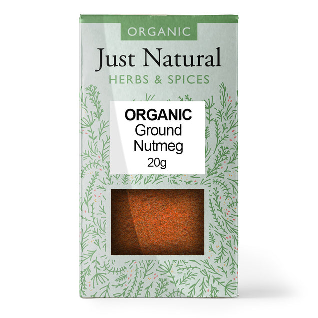 Just Natural Organic Ground Nutmeg 20g