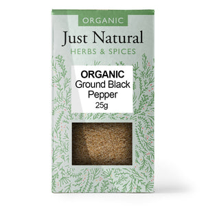 Just Natural Organic Ground Black Pepper 25g